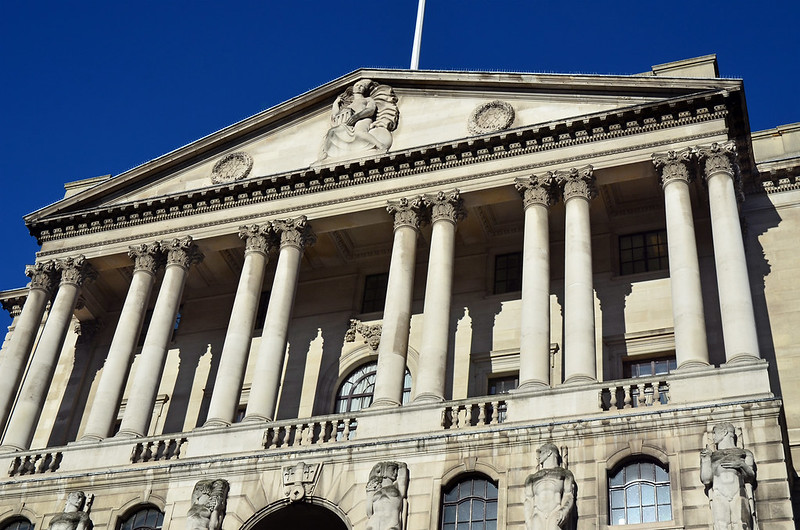 Bank of England building in London